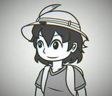 50年くらい前の白黒アニメ風かばんちゃん