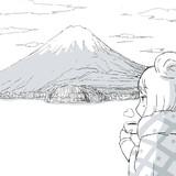 富士山とリンちゃん