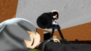 【MMD艦これ】響鬼提督代理に目覚ましバズーカを仕掛けに行くほたるちゃん【響提督の日常】