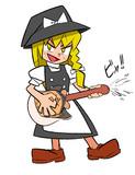 珍ギターを演奏するKG