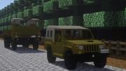 【minecraft】73式小型と大型トラック