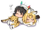 さりげなくネコ枕に成功したかばん
