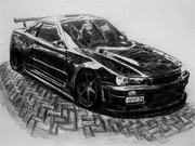 R34 GTR Z-tune描いてみた