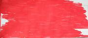 紅しょうがを並べてベーコンの形にしたもの
