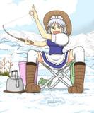 釣りキチおばさん ワカサギ釣りを楽しむ