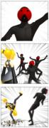 MMD3コマ漫画「誕生日」