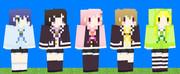 【Minecraft】どうびじゅスキン
