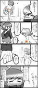 蛮奇が小傘でシコる4コマ漫画(3/7)