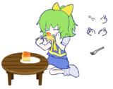 ケーキを食べるDIYUSI