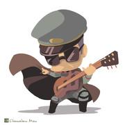 ギター?を弾くペールゼン