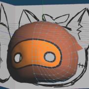 3Dモデル進捗「幻想珍獣たこすけ」
