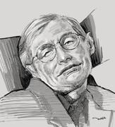 追悼似顔絵:スティーブン・ホーキング博士