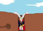 穴にはまった神聖ブリタニア帝国第98代皇帝シャルル・ジ・ブリタニア