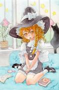 黒猫と魔理沙