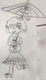 東方の落書き番外編5 初めて描いたときの小傘ちゃん