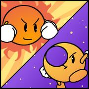 三色連想「白、黄色、オレンジ」