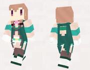 【minecraft】オオオニバス(ジューンブライド)(花騎士) スキン(サンプル)