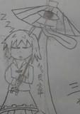 東方の落書き番外編6 初めて描いた小傘ちゃんの寝込み