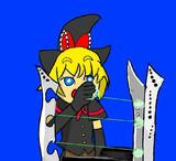 レーザーハープを奏でるMGR姉貴
