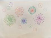 花火をカラー芯で描いてみた