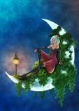 【過去絵】月と少女