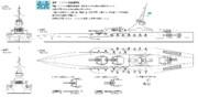 ミスリル級戦艦 三面図