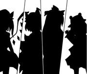 【東方】EXボスを白黒で描いてみた