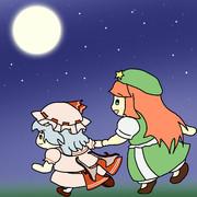 月下を駆ける夜のお散歩