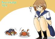相棒の蟹に友達を紹介してもらう朧