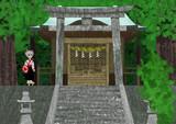 椛 - 古神社にて