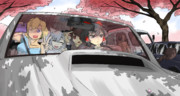 ドライブに出かけるイースター☆一行