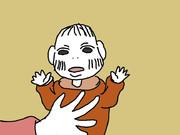 赤ちゃんと釘宮さん。