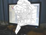 3D絵 初号機