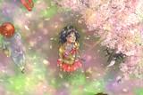 最後に見る校舎の桜