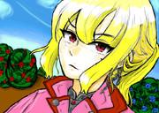 金髪ポニテの女騎士(オリジナル)