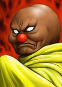 アンパンさんがバイキンマンの悪行にお怒りのようです。