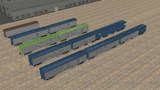 【モデル配布】パレット式貨車・荷物車セット【MMD鉄道】