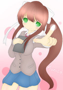 Just Monika.