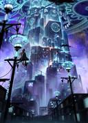 魔法エネルギーで動く都市