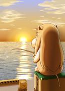 夕日とむっぽ
