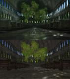 樹木のある廃虚ステージ【配布】