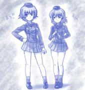 【ガルパン】マウ子 と マウス砲手