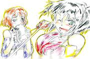 鍋蓋ちゃんと乙女城ちゃん