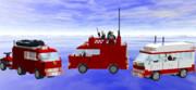 LDDでワンボックスカー作ってみた(消防編)