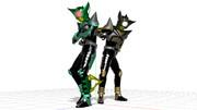 【MMD】キック&パンチホッパー【モデル配布】