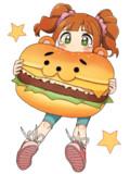 大好き好きハンバーガー♪