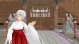 神社の巫女風の少女
