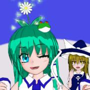【Blender】開花した早苗さん