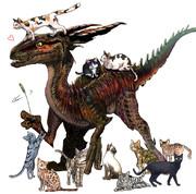 猫好きドラゴン♥