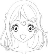 ♣アイカツフレンズ!♣湊みおちゃんの線画